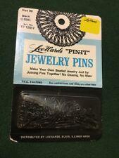 "Vintage LeeWards Jewelry Pins ""Pin It� Size 00 Black (1039) Art No. 17-12017"