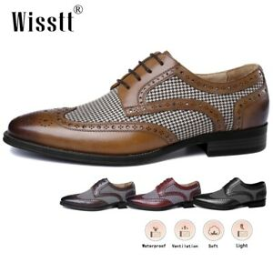 Men's Leather Oxford Dress Shoes Lined Business Low Heel Outdoor Penny Loafers