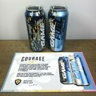 (2) MOUNTAIN DEW Mtn Dew Game Fuel Courageous Sherbet 16oz Cans Rainbow Sherbet