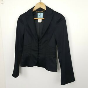 Marciano Guess Womens Jacket Black Cropped Fitted Corset Size 2
