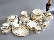 Luxurious Fine Bone China Elegant Porcelain 56p Coffee Tea Pot Dinnerware  Set C