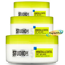 3x L'oreal Studio Mineral & Control Natural Touch Strong Hold Gel Paste 150ml