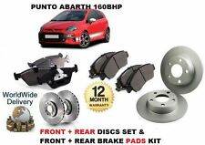 PER FIAT PUNTO EVO ABARTH 1.4 163BHP 09 > ANTERIORE+SET DISCHI FRENI POSTERIORI+