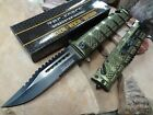 TAC FORCE Assisted Open SAWBACK BOWIE Tactical EDC Rescue Pocket Knife 710GN