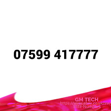 07599 417777 EASY MOBILE NUMBER GOLD DIAMOND PLATINUM VIP BUSINESS SIM CARD