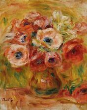Renoir Auguste Pierre Bouquet Of Anemones Canvas 16 x 20     #7242