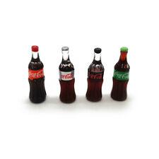 4Pcs Set Dollhouse Miniature 1:6 Variety Flavors Glass Bottles of Coke Drink