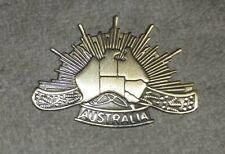 RISING SUN BADGE with MAP OF AUSTRALIA - new made, REPRODUCTION