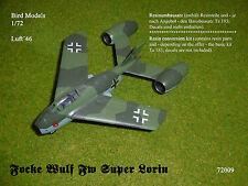 Focke Wulf Fw SUPER LORIN  1/72 Bird Models Resinmischbausatz / resin mixed kit