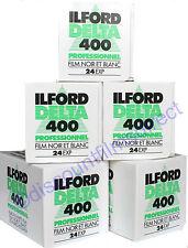 5 x ILFORD DELTA 400 35mm 24exp CHEAP B&W CAMERA FILM by 1st CLASS POST