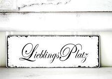 Shabby Schild Vintage LIEBLINGSPLATZ  Nostalgie weiß Tafel