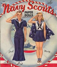 Vintge 1942 Navy Scout Paper Doll Laser Reproductin~Unct~Lo Pr~Top Sellr Free Sh