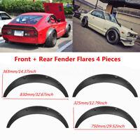 4PCS Universal Car Fender Flares Flexible Yet Durable Polyurethane BlacR ZH