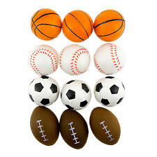 108 (9 dozen) Stress Sport Ball Foam Ball Basketball Football Soccer Baseball