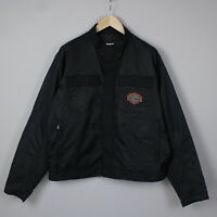 HARLEY DAVIDSON WATER REPELLENT Men's X LARGE Nylon Shell Bomber Jacket 18006_JS