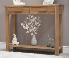 Nero solid oak furniture hallway console table