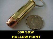 REAL BULLET KEYCHAIN 500S&W HOLLOW POINT 500 SMITH WESSON