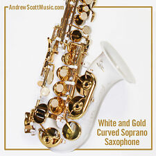Curved Soprano Saxophone, White - Masterpiece