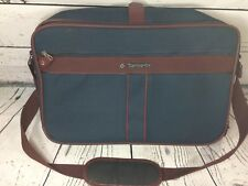 Vintage Samsonite Silhouette 4 blue tweed Carry-on Casual Travel Weekender Bag