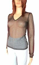 DOLCE GABBANA Black New Ladies Evening Fashion Sexy Lace Sheer Blouse sz XS AN16