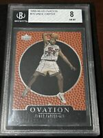 🔥8.5 SUB🔥 1998-99 UpperDeck Ovation VINCE CARTER ROOKIE, NM-MT BGS 8, Raptors