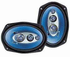 "Pyle 6""x 9"" Car Sound Speaker (Pair) - Upgraded Blue Poly Injection Cone 4-Way 4"
