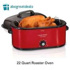 Hamilton Beach 28 lb Turkey Roaster Electric Oven Slow Cooker 22 Quart Capacity