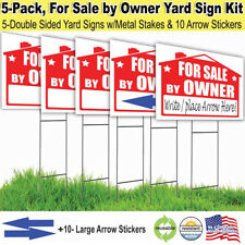5 Pack, For Sale By Owner Lawn Sign Kit