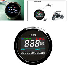 52mm Black&Silver Bezel Motorcycle Digital GPS Speedometer 0~999 MPH,Knots,Km/h