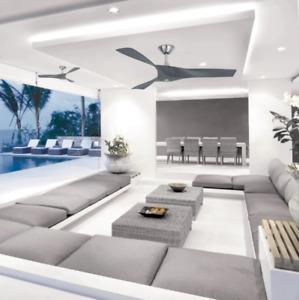 """Outdoor/Indoor 52"""" Propeller Ceiling Fan Unique Gray + Remote Elegant Loft Patio"""