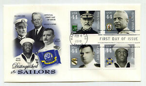 4440-43 Distinguished Sailors on one, ArtCraft FDC