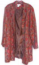 "Women's Long Blazer by ""Coldwater Creek,"" Size: Large, Multi-colors"
