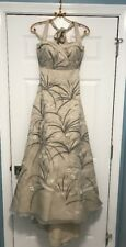 NEW $4,000 BHLDN Trumpeted Pavot Embroidered Vintage Wedding Gown Dress Size 0