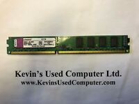 LOW PROFILE KINGSTON 2GB DDR3 1333 RAM Tested Working KVR1333D3N9/2G