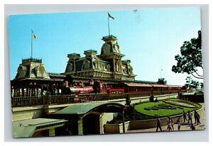 Vintage 1977 Postcard Walt Disney World Steam Railroad Orlando Florida