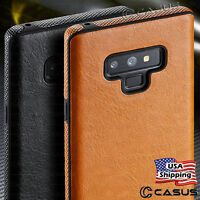 For Samsung Galaxy Note 9/8 S9/S8+ Plus Slim Luxury Leather Thin TPU Case Cover