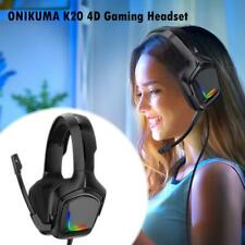 K20 Wired Stereo 4D Gaming RGB Headphones with with 50mm Driver for PS4 Xbox One