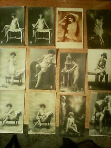 BLOCCO DI 12 CARTOLINE D'EPOCA !!!!!!!!!!!!  ( 1920 ?  )