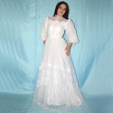 Muy Fino Tul Vestido de Novia XS 34 Estilo Campana Baile Maxi