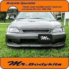 Mr Plastic Headlight Eyebrows Eyelid Eye Lid Suit Honda Civic 1996-1998 EK