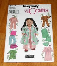 Simplicity Pattern #5276 Doll Clothing - Elaine Heigl 6 Outfits - Uncut Pajamas