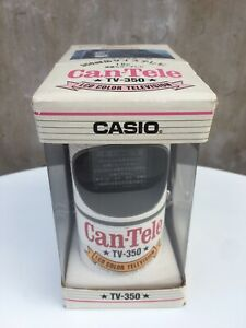 Casio Can Tv 350 Portable Television For Car 1980 Brand New In Box Soda Can Size