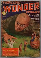 Thrilling Wonder Stories June 1940 VINTAGE Thrilling Publication Pulp Magazine