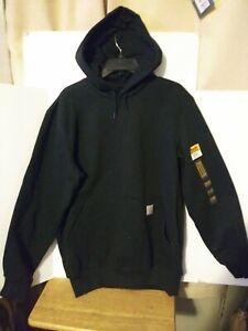 CARHARTT 100615 BLACK HEAVYWEIGHT RAIN DEFENDER Pullover Hoodie Size M Medium