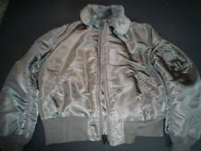 Original Alpha Industries B-15 Bomberjacke XXL vintage grey  B15 Fellkragen