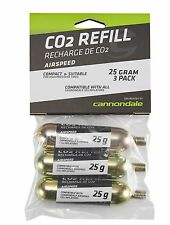 Cannondale Co2 Cartridge 25G 3Pack Silver 3CO2/25G3PAK