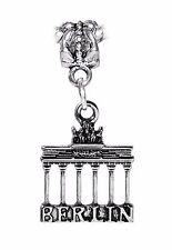 Brandenburg Gate Berlin Germany Landmark Trip Dangle Charm for European Bracelet