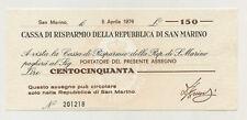 San Marino 150 Lire 5-4-1976 Pick S101 aUNC Almost Uncirculated Banknote Ref 218