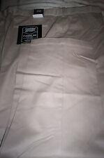 NWT! BERKLEY JENSEN CLASSIC FIT COMFORT WAIST FLAT FRONT PANTS-BEIGE-40X32
