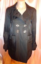 Miss Sixty Adorable Black A-Line Mini Trench Size S/Petite  NWOT